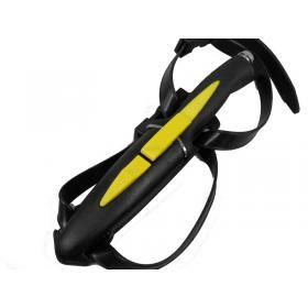 Mac Aquatys Testereli Dalgıç Sarı Dalgıç Bıçağı 24 cm - Bacak & Kol Kılıflı, Perçinli Kauçuk Sap, İp Kesmeli
