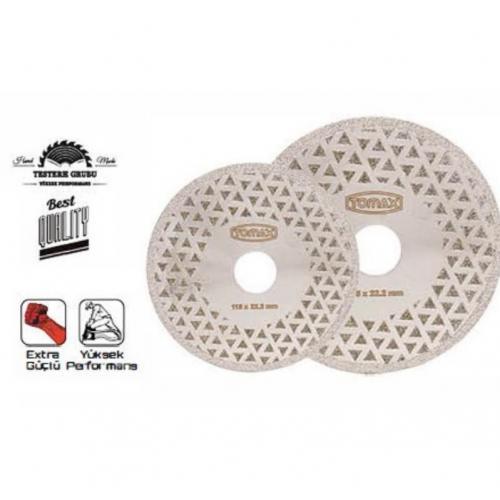 Tomax, 08300450, Kesici Diskler & Uçlar, Tomax Elektrolize Elmas Kesici Disk - 115 mm