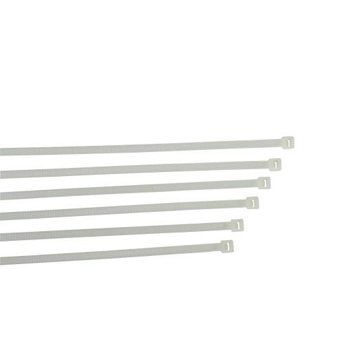 , 07704250, Düzenleme Ürünleri, Plastik Kilitli Kelepçe / Kablo Bağı / Cırt Beyaz - 4x250 (100 Adet)