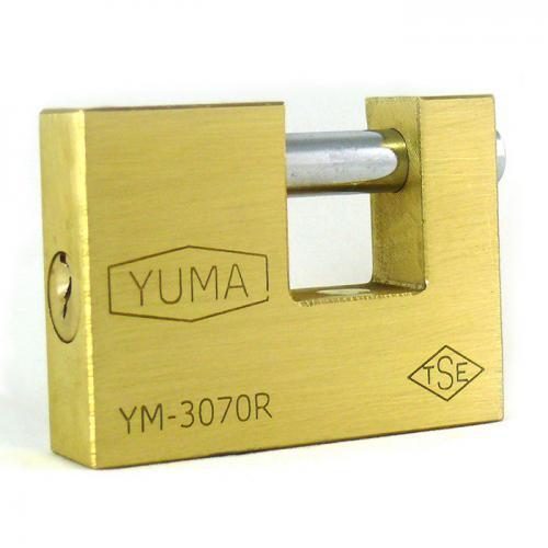 Yuma, YM-3068, Asma Kilitler, Yuma Kayar Milli Prinç Asma Kilit 68 mm - Yeni Tip