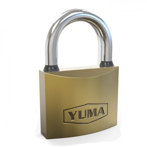 Yuma, YM-1063T, Asma Kilitler, Yuma Sarı Kaplama Döküm Asma Kilit 63mm