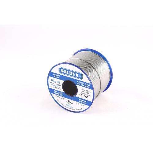 Soldex, OZK-631202, Lehimler, Soldex 63-37 Lehim Teli 200 Gr 1,2 mm, Sn:63 - Pb:37