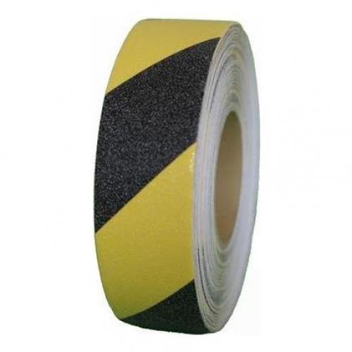 , 08835215, Bantlar, Kaydırmaz Bant Sarı - Siyah - 25 mm x 15 m