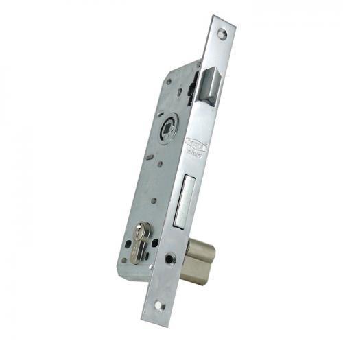 Yuma, YM-603, Kapı Kilitleri, Yuma 35 mm Silindirli Daire Kilidi Rulmanlı, Nikel - Barelli