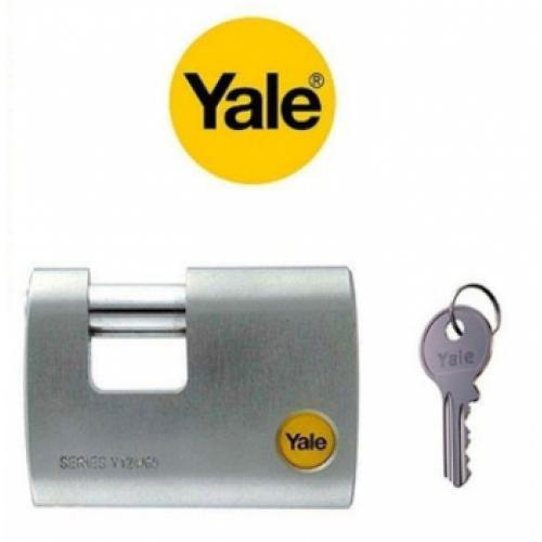 Yale, Y124-60-110-1, Asma Kilitler, Yale 60 mm Krom Kaplamalı Kayar Milli Asma Kilit - Dış Mekana Uygun