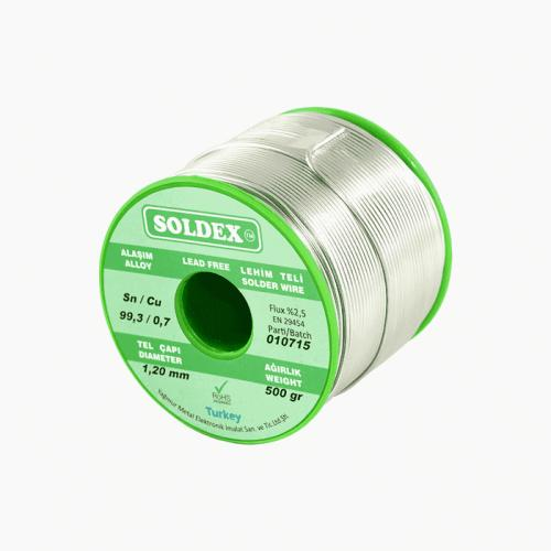 Soldex, OZK-SD965-3-05-500-1.6, Lehimler, Soldex Sn:96.5 - Ag:3 - Cu:0.5, 500 Gr, 1.6 mm - Gümüşlü Kurşunsuz Lehim Teli