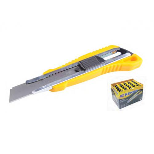 Kendo, EMB020, Sarf & Kırtasiye, Kendo Plastik Maket Bıçağı / Falçata - Otomatik Kilitli