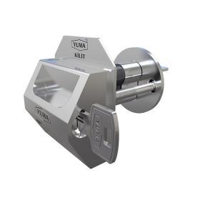 Yuma Kilitli Çelik Rozet Sol + 1 adet 83 mm Çelik Kapı Barel Seti